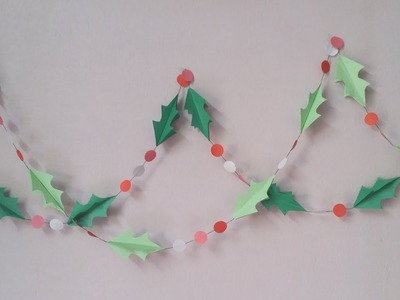 DIY: Christmas Decoration!!! How to Make Beautiful Paper Wall Hanging for Christmas Decoration!!!