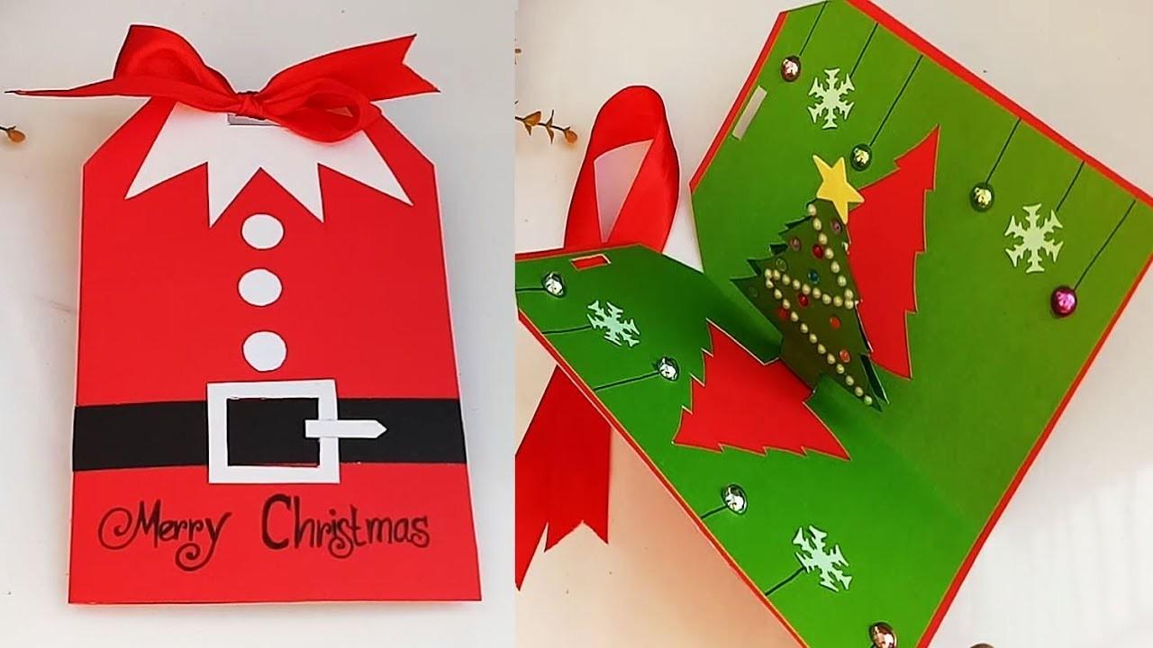 DIY Christmas pop up Cards.Handmade Christmas Greeting Cards.