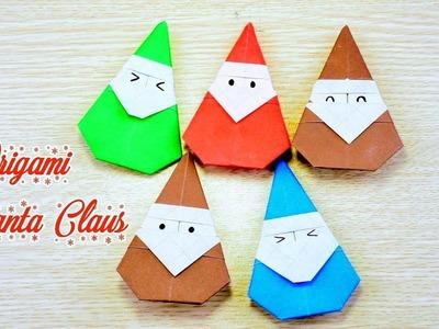 DIY Christmas Santa Claus  - How To Make Origami Santa Claus Easy Fast and Kute | Creative DIY