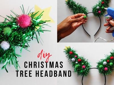 DIY Christmas Tree Headband | How To Make A Christmas Headband | Forever 21 Inspired
