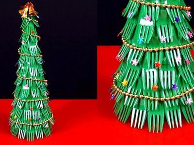 Diy Christmas Tree Using Fork Spoons | Step by Step Tutorial