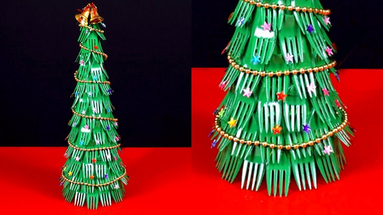 Diy Christmas Tree Using Fork Spoons | Step by Step Tutorial