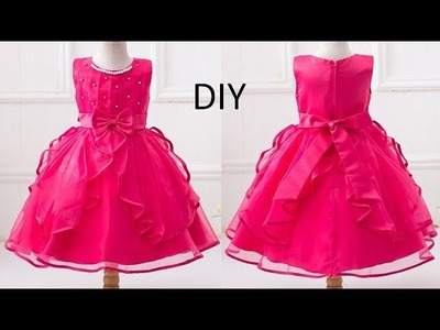 Diy  Designer Baby Frock Cutting & Stitching Full Tutorial