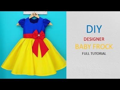 Diy Designer Baby Frock Cutting & Stitching Full Tutorial