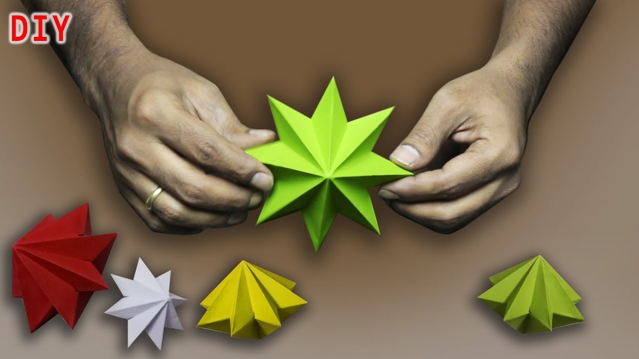 how to make a paper star for christmas