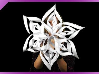 DIY How to make big paper snowflake, paper star (ENG Subtitles) - Speed up #552