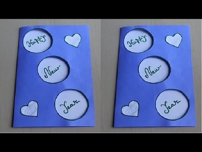 DIY - How to make new year card | Handmade New Year Card Idea | New year greeting card