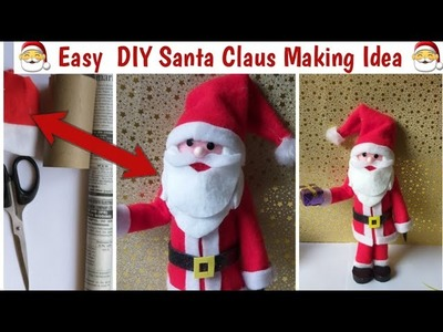DIY.How to Make Santa Claus at Home with Newspaper | #SantaClaus Making #Christmascraft #xmascraft