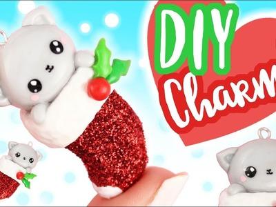 DIY Kawaii Kitten in Christmas Stocking Charm! -Polymer Clay Tutorial   KAWAII FRIDAY