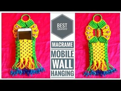 DIY Macrame Mobile Wall Hanging Design | Wall Hanging tutorial | Mobile hanger