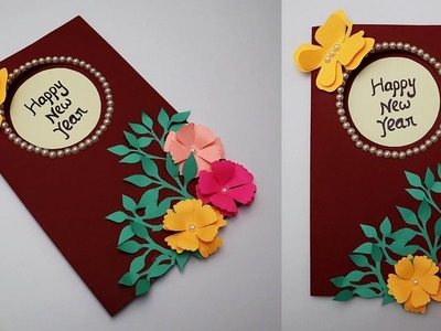 DIY New Year Card 2019 | How to make Greeting Card for Happy New Year | Handmade Cards Idea