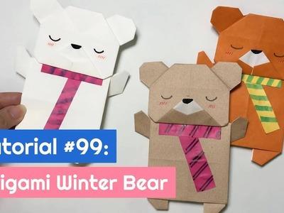 DIY Origami Christmas Winter Bear   The Idea King Tutorial #99