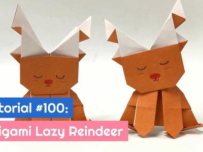 DIY Origami Lazy Reindeer | The Idea King Tutorial #100