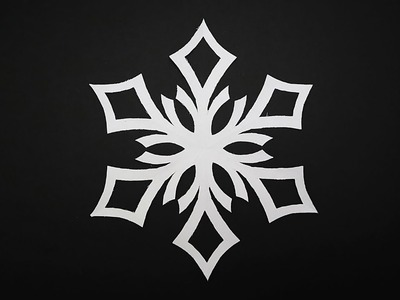 DIY Paper Snowflakes Design 3 | How to Make a Paper Snowflakes Step by Step Tutorial