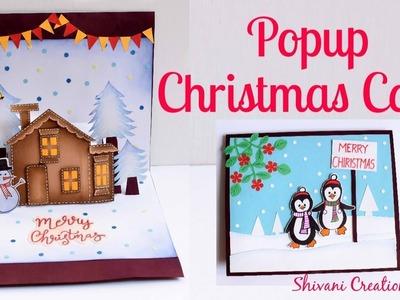 DIY Popup Card for Christmas. Popup Christmas Card