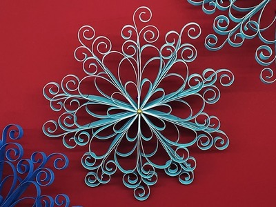 DIY Quilling Paper Snowflakes | Christmas Decoration Ideas
