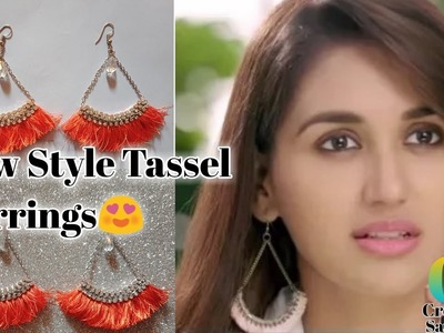DIY Tassel Earrings || Dangel tassel Earrings || #tassel_earrings