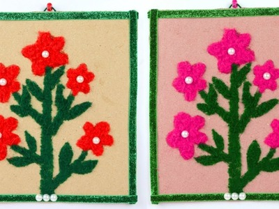 Diy Wall Hanging With Waste Woolen || How To Make Wall Hanging use woolen & Cardboard