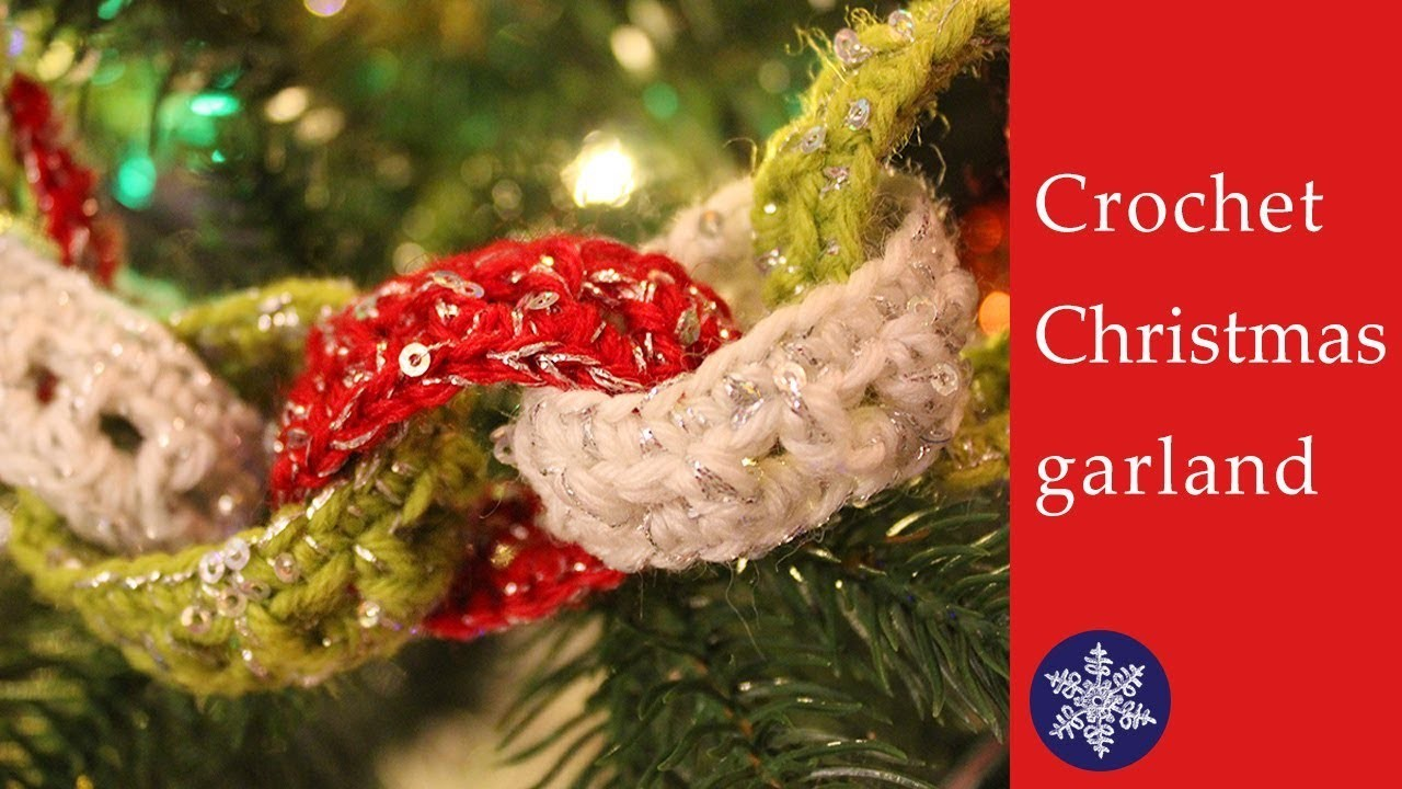 Easy Crochet Christmas Tree Garland Tutorial