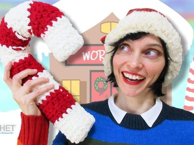 Giant Candy Cane Crochet Tutorial