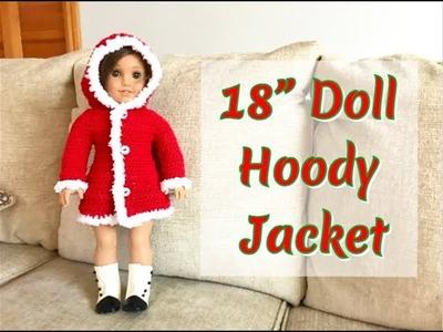"How to Crochet 18"" Doll Hoody Jacket"