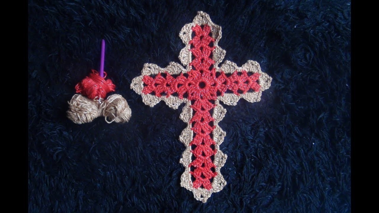 How to Crochet a Cross Pattern #807│by ThePatternFamily