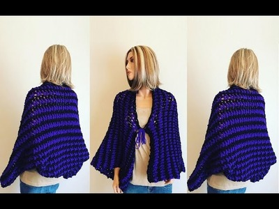 How to Crochet a Open Front Sweater Pattern #797│by ThePatternFamily