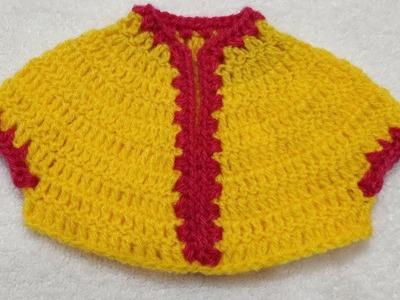 How to Crochet Choli for 12 no. Laddu Gopal. Kanhaji's Dress #15