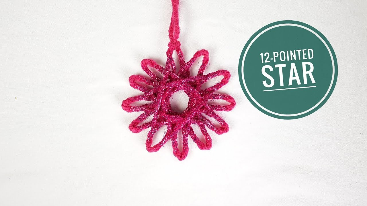 How to Make a 12-pointed Star using a Loom (DIY Tutorial)