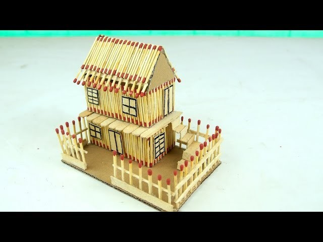 How to Make a Match House DIY at Home - Match Stick House