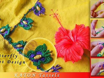 How to make Butterfly Crochet | KATON Tassels | Trending Design | Tamil