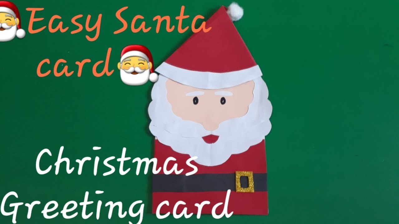 ????How to make Christmas greeting cards at home easy ? DIY Santa card????