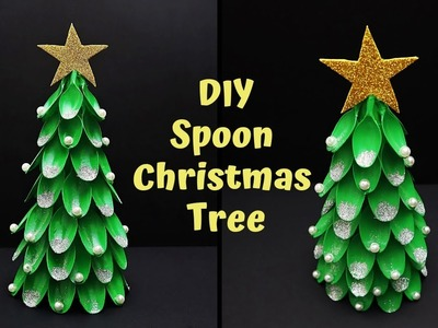 How to Make Christmas Tree With Plastic Spoons | DIY Christmas Tree | Christmas Decor