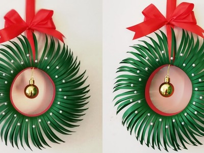 How to Make Christmas Wreath.DIY Paper Christmas Wreath.Christmas Decoration Ideas