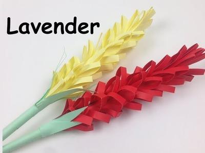 How to Make Easy Origami Lavender Paper Flower | DIY Simple Flowers Tutorial for Beginners Making