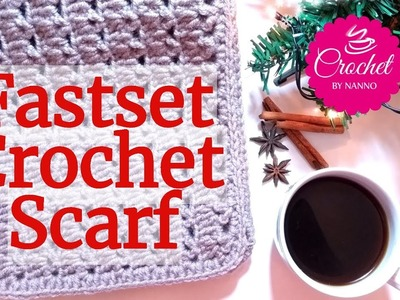 LEFT HANDED HOW TO CROCHET THE FASTEST SCARF EVER #1 EXCLUSIVE✨☕The Crochet Shop