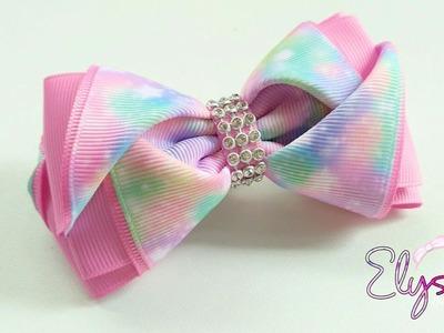 Making Pinky Ribbon Bow ???? Tutorial ???? DIY by Elysia Handmade
