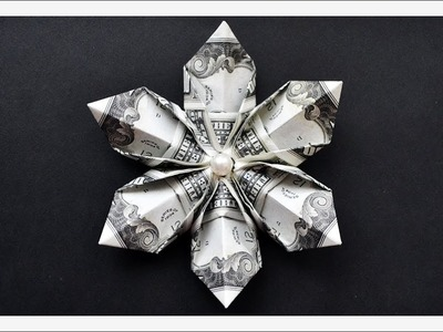 Money SNOWFLAKE.FLOWER | Christmas Decoration Idea | Origami Dollar Tutorial DIY