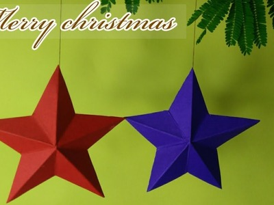 Paper Star  | How To Make A Paper Star DIY | EASY Paper Star I Christmas Star