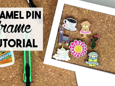 REALISTIC DIY Tutorial   Enamel Pin Picture Frame