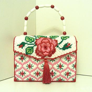 Red and Pink Rose Handbag