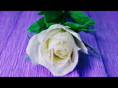Rose Paper Flowers Easy To Make Diy Paper Flowers Making Paper