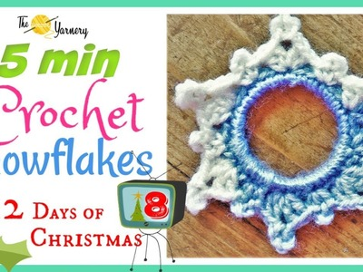 5 Minute Crochet Snowflake Pattern - NO STARCH - Easy Crochet Ornaments