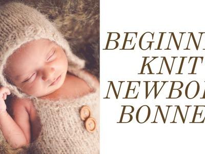 $6 HOW-TO KNIT A NEWBORN BONNET | BEGINNERS | CHEAP DIY PHOTOGRAPHY PROPS
