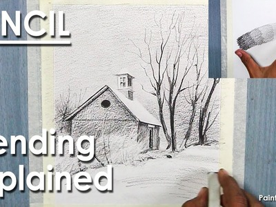 Blending Technique | How to Draw A Foggy scenery in Pencil
