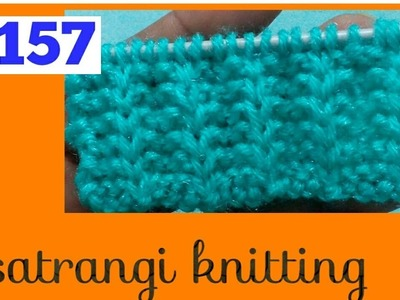 Border & Sweater design #157 |Satrangi knitting|