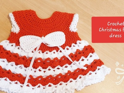 CROCHET CHRISTMAS  BABY DRESS (Hindi Tutorial)-3