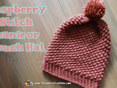Crochet Raspberry Slouch Hat - Right Handed Crochet Tutorial