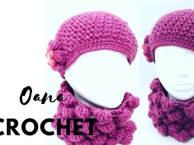 Crochet seed stitch beret by Oana