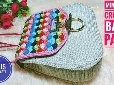 Crochet || tutorial mini shell crochet back pack